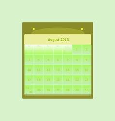 Design schedule monthly august 2014 calendar vector