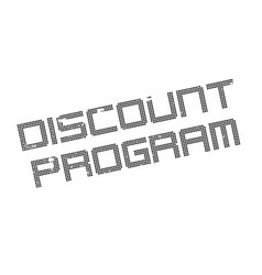 Discount program rubber stamp vector