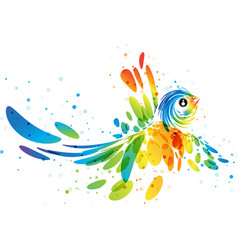 Fantasy colorful bird vector