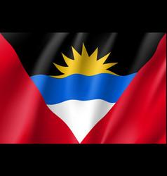 Flag antigua barbuda realistic icon vector