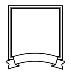 frame with ribbon isolated icon design vector image