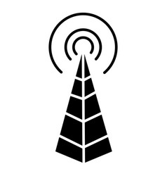 Frequency antenna - radio tower icon vector