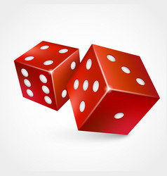 game dices isolated on white background vector image
