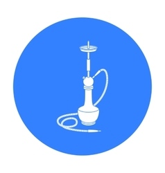 Hookah icon in black style isolated on white vector image
