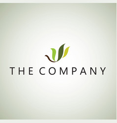 Leaf logo ideas design on vector