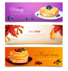Maple syrup banners set vector
