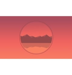 Mountain icon landscape of silhouette vector image vector image