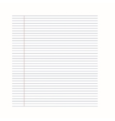 Notebook background Paper in line Royalty Free Vector Image