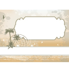 palm and shadoof frame background vector image