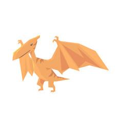 Pterosaurs dinosaur character jurassic period vector