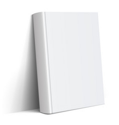 realistic white blank book cover vector image