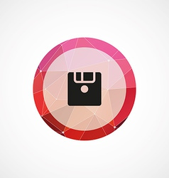 Save circle pink triangle background icon vector