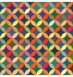 Seamless colorful circle star quilt tiling vector