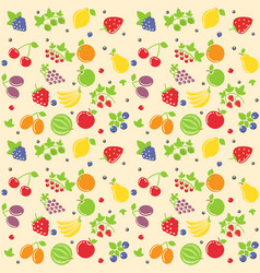 Seamless fruit texture vector