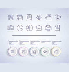 set of infographic elements on vector image
