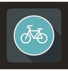 Sign bike icon flat style vector image vector image