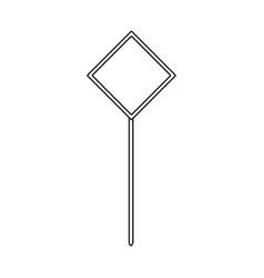 sign traffic road warning blank vector image