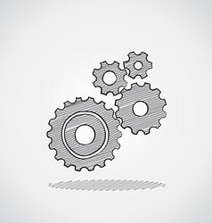 Sketched gears vector