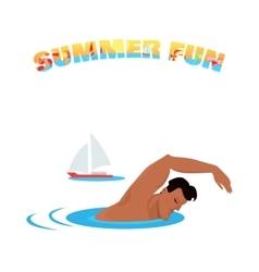 Summer Fun Banner Poster Concept Design vector image