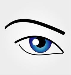 The human eye vector