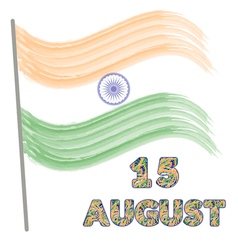 Independence day of india concept with watercolor vector