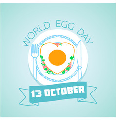 13 october world egg day vector image vector image
