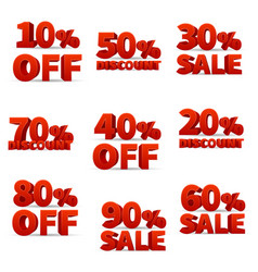 Promotional discount store signs with price vector