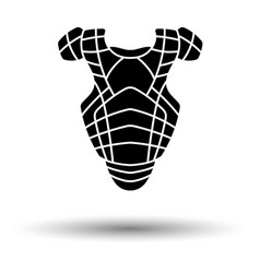 baseball chest protector icon vector image