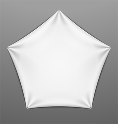 White stretched pentagonal shape with folds vector