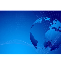World map technological background vector image