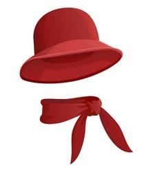 round hat vector image