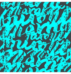 Seamless pattern graffiti miami vector