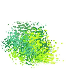 Abstract liquid green drip splatter silhouette on vector