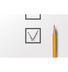 Choice - realistic pen with check vector