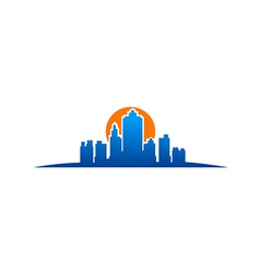 City building new york logo vector