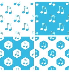 Sixteenth note patterns set vector