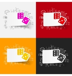 Drawing business formulas dice vector