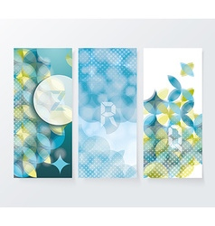Banners with pattern of geometric shapes geometric vector