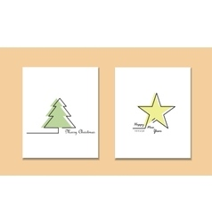 Christmas new year holiday line icons set vector