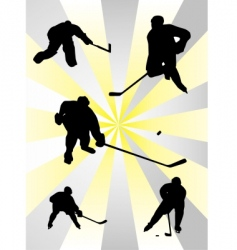 Nhl ice hockey vector