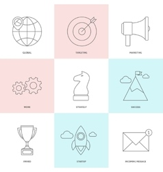 Start up outline icons vector