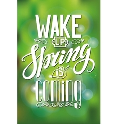 Spring is comingletteringgreen blurred vector