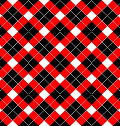 Red plaid pattern backgroun vector