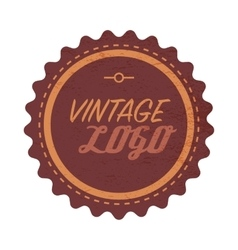 Vintage logo label vector