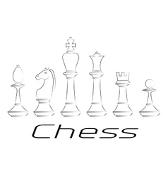Chess board Game Icon set vector image