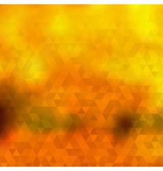 Abstract autumn background of triangles vector