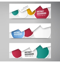 banner background White circle and set vector image vector image
