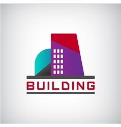 building logo colorful construction vector image vector image