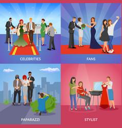 Celebrity 2x2 design concept vector