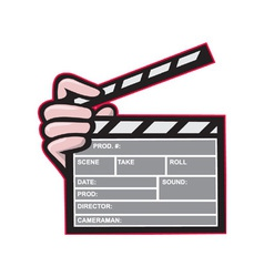 Clapboard clapperboard clapper front vector